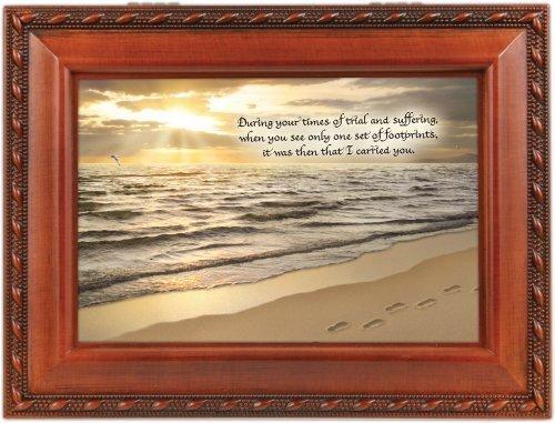 【コンビニ受取対応商品】 Footprints in the Friend the Sand Woodgrain Inspirational Cottage Cottage Garden Traditional MusicボックスPlays Friend in Jesus by Cottage Garden B017URO4YI, 安佐北区:e19bb895 --- arcego.dominiotemporario.com