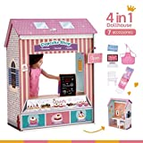 american girl dollhouse Olivia's Little World - Olivia's Classic 18 inch Doll Convertible Wooden 4-in-1 Play House/ Dollhouse | 4 Scenes with Accessories