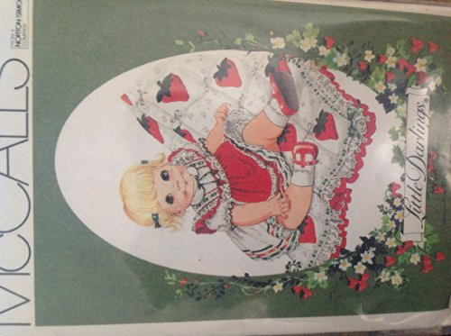 (Mccalls 8262 Little Darlings Yoked Trimmed Strawberry Applique Dress, Slip, Quilt Sewing Pattern for Infants 1982)