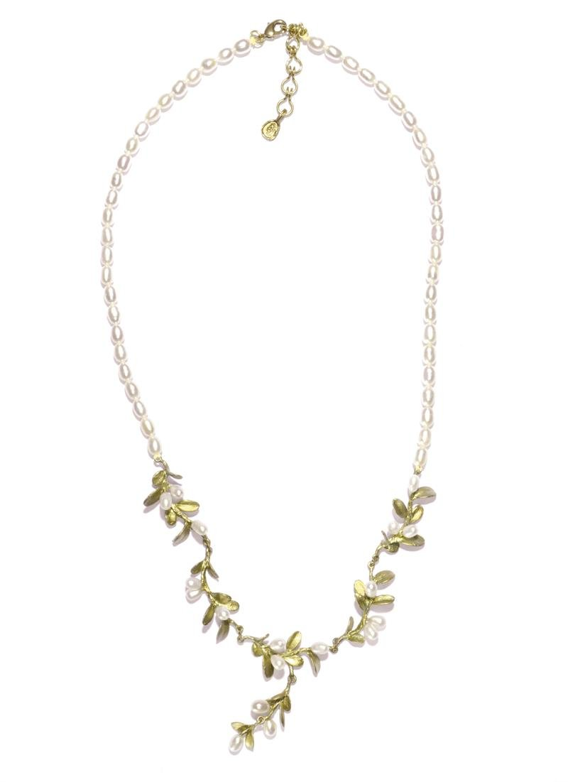 ''Boxwood'' Pearl Necklace by Michael Michaud for Silver Seasons