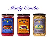 Manly combo-pack: raw fermented sauerkraut, organic, probiotic, kosher and unpasteurized No shipping charges with this combo pack.