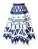 Relaxfeel Women's High Waist Vintage Tutu A-Line Midi Skirts Elastic Waist Scuba