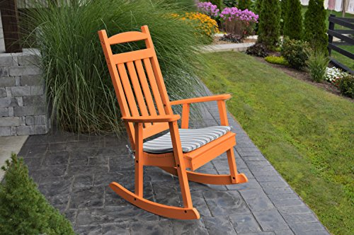 BEST POLY WOOD ROCKING CHAIR, Polywood Rocker Living Room Front Porch Furniture, US Amish Made All Weather Fun Rockers, Relax By a Fireplace or Enjoy on Your Patio, 9 Gorgeous Colors