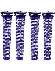4Pcs Vacuum Washable Pre Filters Replacements kit for Dyson V6 V7 V8 DC58 DC59 DC61 DC62, Cordless Vacuum Cleaners Replacements Part # 965661-01 (4 Pcs)