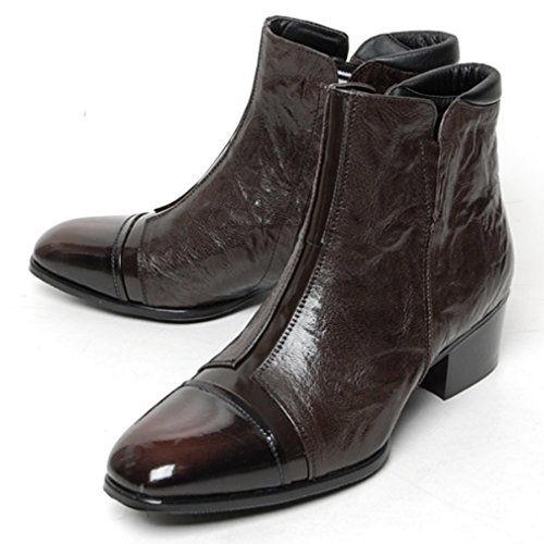 Ankle Brown Genuine Classic Mens Leather Cow Epicsnob Boots Formal Shoes Dress v87pfqn