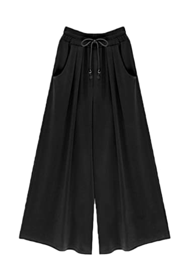 42554a8ea3 Mupoduvos Women Solid High Waist Loose Side Slit Palazzo Pants Wide Leg  Trousers at Amazon Women's Clothing store: