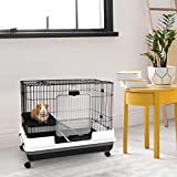 "PawHut 32""L 2-Level Indoor Small Animal Cage"