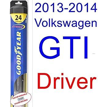 2013-2014 Volkswagen GTI Wiper Blade (Driver) (Goodyear Wiper Blades-Hybrid)