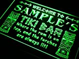 ADVPRO Name Personalized Custom Tiki Bar Beer Neon Light Sign Green 16'' x 12'' st4s43-pm-tm-g