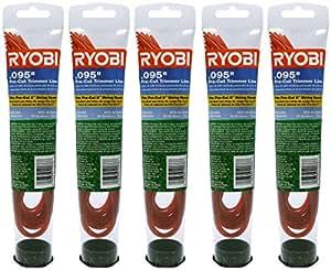 Ryobi 0.095 Pro Cut II Replacement (5 Pack) Trimmer Line Pre-Cut # AR24095-5pk