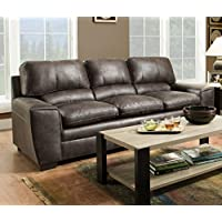 Simmons Upholstery 9085-03 Granite Shiloh Sofa, Dark Gray