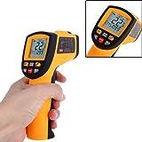 KKmoon Termómetro infrarrojo, - 50°C / + 700°C, LCD, color amarillo