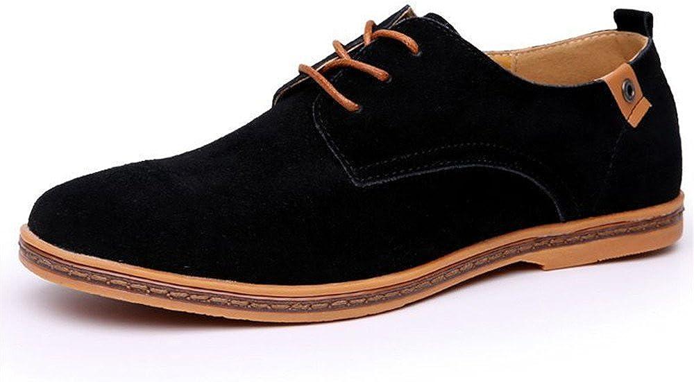 Men's Classic Suede Leather Dress Shoes
