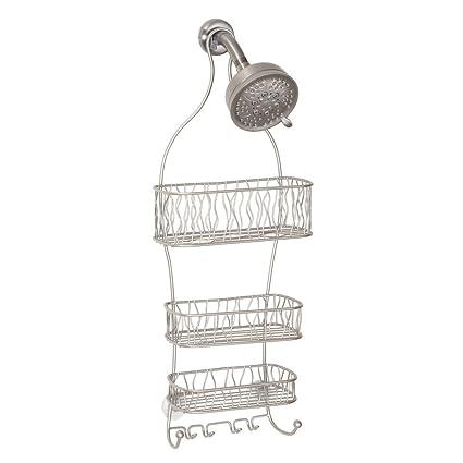 Amazon.com: InterDesign Squiggle Hanging Shower Caddy – Bathroom ...