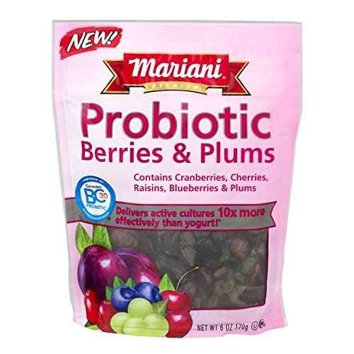 Mariani Probiotic Berries & Plums 6 OZ Resealable Bag (Pack of 4)