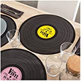 Pack of 12 Vinyl Record Place Mats - Novelty Tableware