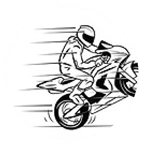 alfombrilla de ratón Moto Sport - ronda - 20cm
