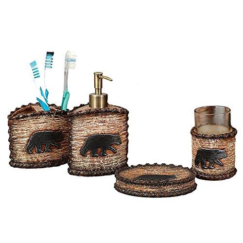 resin bear bathroom set - 4