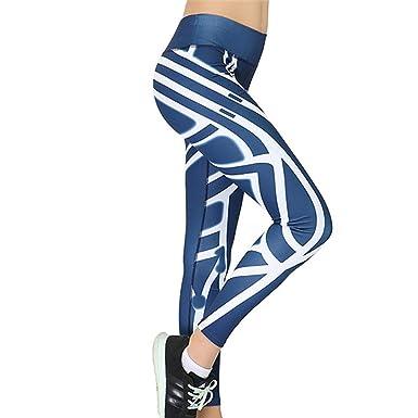 LFEU Las Mujeres Adelgazan los Pantalones de Yoga Negros de ...