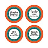 k cups for 2 0 keurig - Hot Chocolate Lovers Variety Pack - Chocolate Raspberry, Red Velvet, Chocolate Peanut Butter, French Vanilla, Hot Cocoa 24 Count for Keurig Kcup Brewers