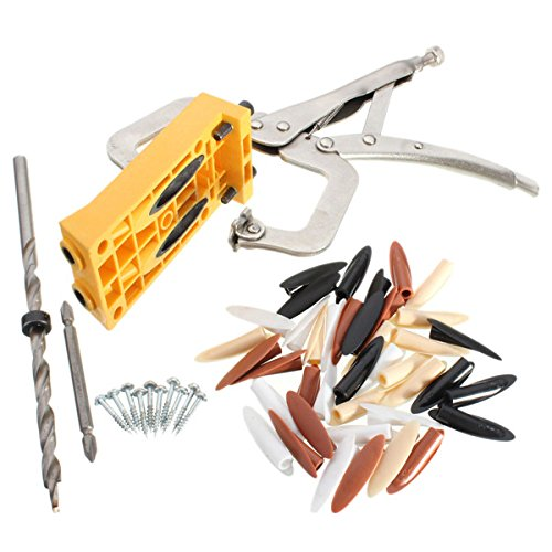 Pocket Hole Jig Woodwork Guide Repair Carpenter Kit Woodworking Tool by SPK603 (Image #1)