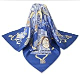 corciova 35'' 14 Timmy Twill 100% Real Mulberry Silk Square Women Scarfs Scarves Green Blue Lute Clothing Patterns