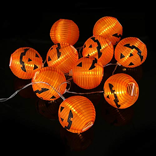 Sujing LED Fairy Lights, LED String Light, LED Lanterns Lights, LED Pumpkin Fairy Lights, 3D LED Pumpkin Lights for Halloween Decorations Indoor & Outdoor Theme Parties Festival (20 LED)