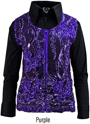 Royal Highness Molly Lace Sequence Show Vest