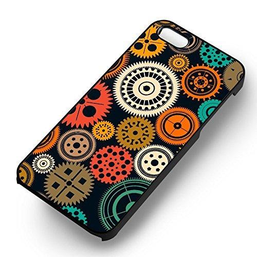 Seamless Gears pour Coque Iphone 5 or Coque Iphone 5S or Coque Iphone 5SE Case (Noir Boîtier en plastique dur) B2I5ML