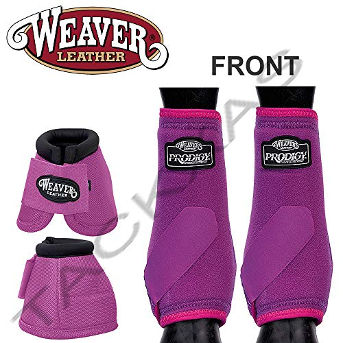 Weaver Medium PRODIGY Horse Front Neoprene Athletic Sports Bell Boots ()