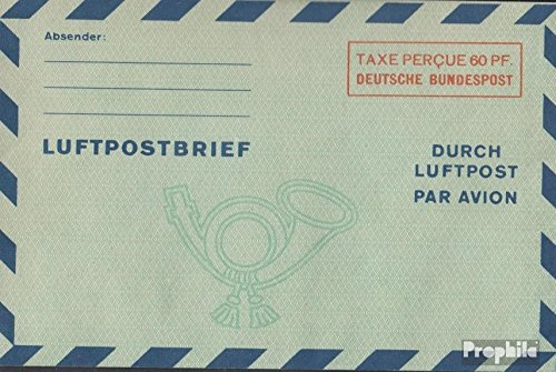 FRD (FR.Germany) LF5 airmail-Faltbrief 1949 Value Box (documents philatelic Covers for Collectors)