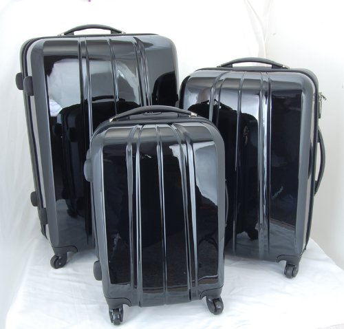 Luggage Set – 3 piece Set – Polycarbonate Rolling – 28, 24″, 20″, Bags Central