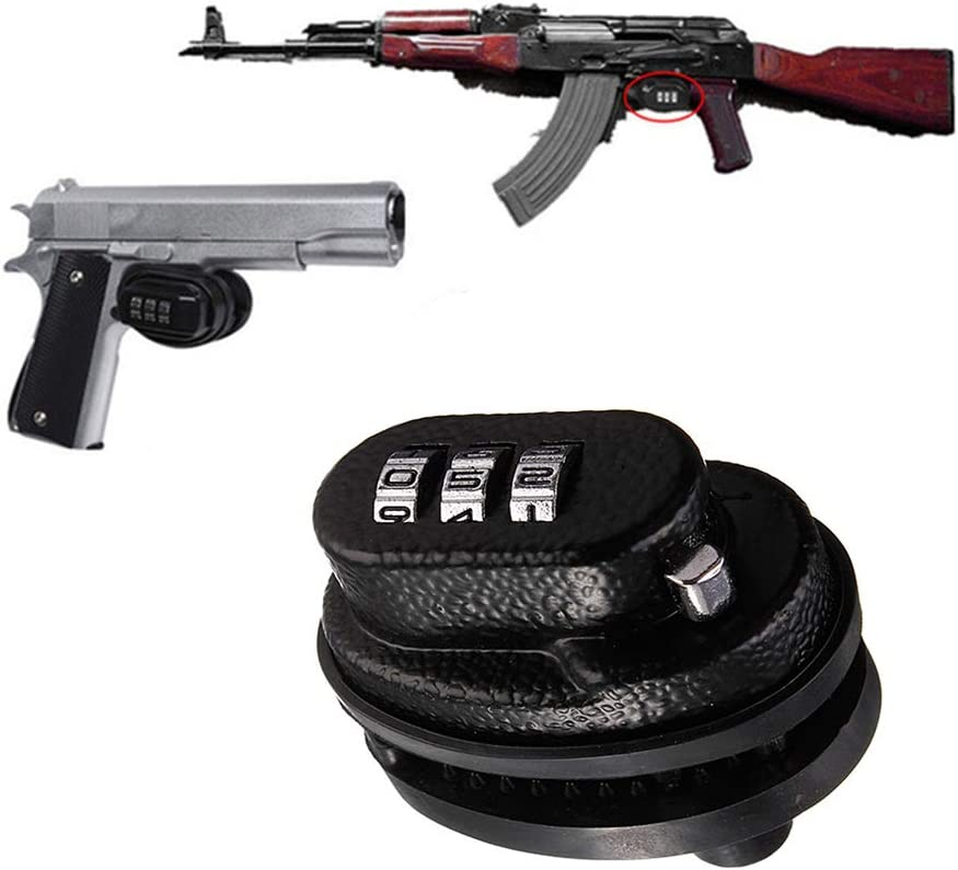 Homy Gun Lock, Universal 3 dígitos combinación candado de pistola – para pistolas, rifles, escopetas