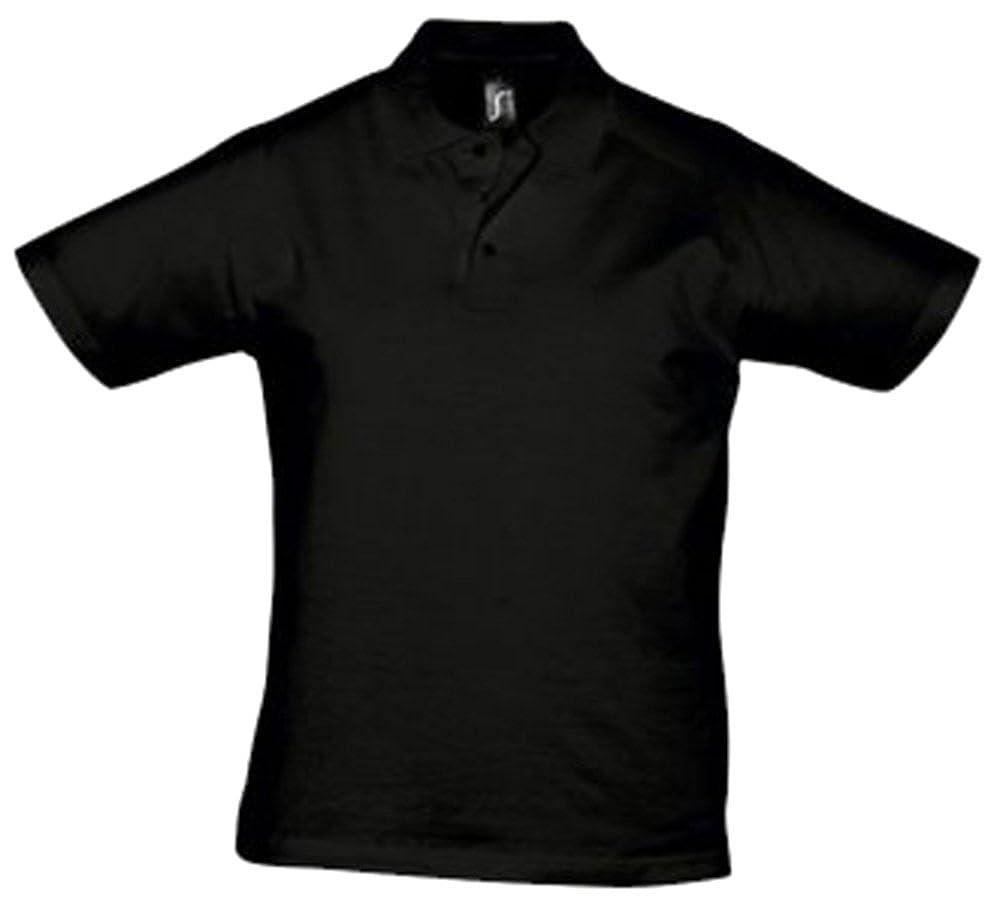 SOLS del Prescott para hombre Jersey Polo para hombre Deep negro ...