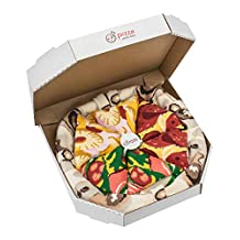 Pizza Socks Box Hawaii Italian Pepperoni - Unisex - Cotton Dress Socks Funny Gift - 4 Pairs