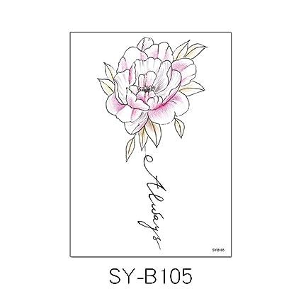 3 Unids-pintado a mano brazo de la flor del tatuaje pegatinas a ...