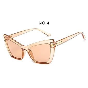 Amazon.com: YLNJYJ Moda Cat Eye Sunglasses Mujeres Retro ...