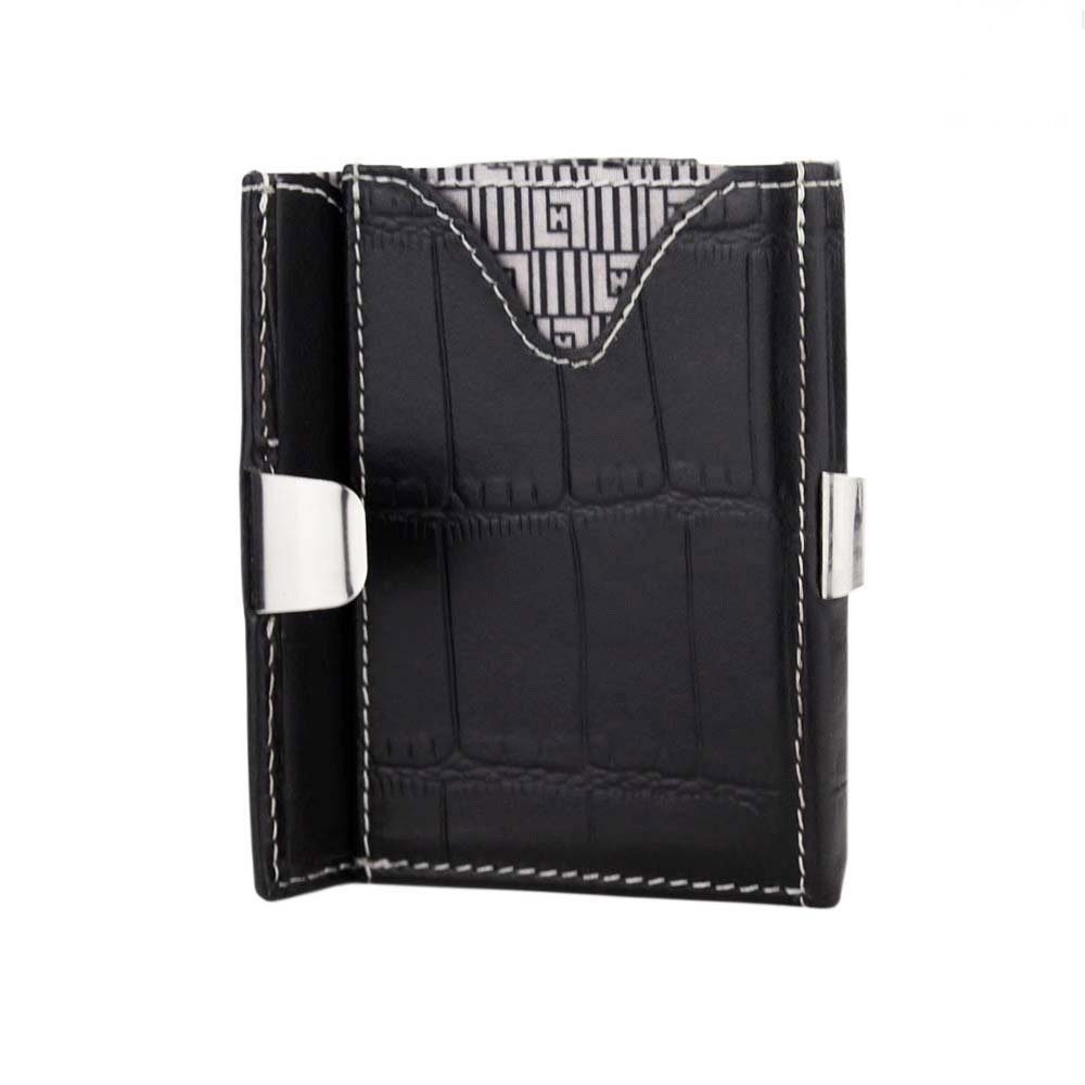 Slim Front Pocket Purse RFID Blocking Bifold Money Clip Leather Card Case Wallet With Locking Device For Men And Women