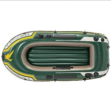 GYFY Bote Inflable de Tres Personas Verde PVC de Caucho de Remo Bote de Pesca espesante para Enviar la Bomba de pádel: Amazon.es: Hogar