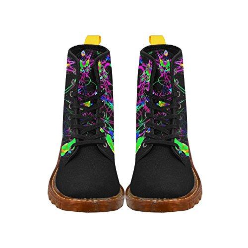 Leinterest Abstract Neon Fun Martin Botas Zapatos De Moda Para Mujeres