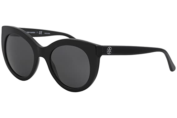 d050c9ee1ccc Amazon.com: Tory Burch Women's 0TY7115 51mm Black/Dark Grey Solid ...