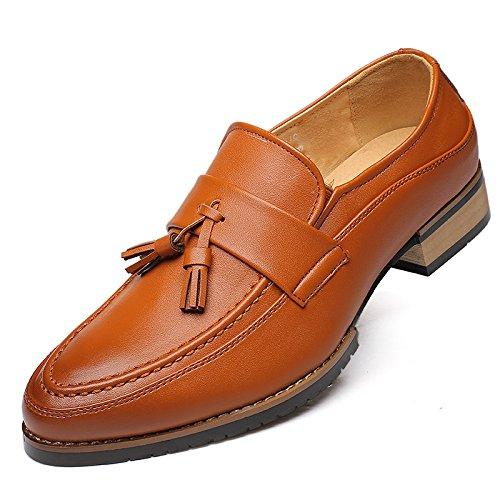 Jaune LOVDRAM Chaussures Hommes Nouveau Chaussures Hommes Mode Chaussures Simples Chaussures Glands Chaussures Compensées Noires De Wenzhou