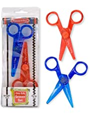 Melissa & Doug Child-Safe Scissors Set (Child-Friendly Scissors, Lefty and Righty, Set of 2, Great Gift for Girls and Boys - Best for 3, 4, 5, 6, 7 Year Olds and Up)