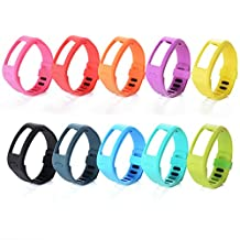 XCSOURCE® 10PCS Silicone Replacement Wrist Band Strap w/ Clasp for Garmin Vivofit Bracelet Wrist Tracker (Size: L: 6.0 - 8.3 inches) TH097