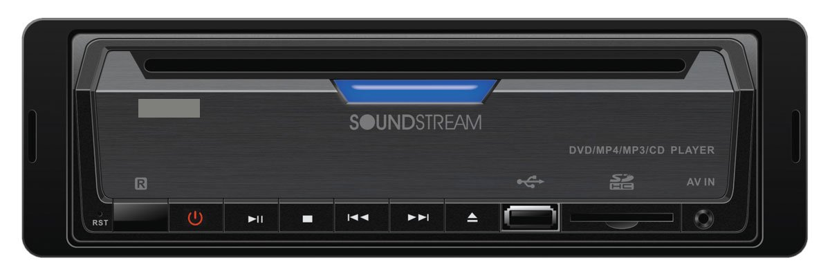 Soundstream VDVD-165 Single-DIN DVD Player with 32 USB Playback