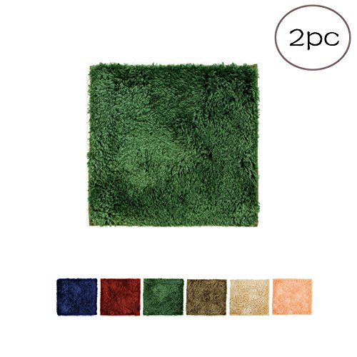 MEMORECOOL LIGHT UP YOUR HOME Creative DIY Tatami Floor Mats Green of 2 Pieces Set - 2018 New Kids Splicing Game Carpet Baby Crawling Rugs Non-slip Machine Washable (Protector Pad Bolster)