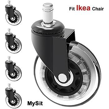Amazon.com: MySit - Ruedas de repuesto para silla de oficina ...