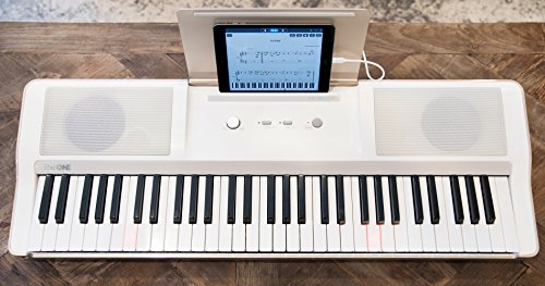 Smart Piano Keyboard 61-Key Portable Light Digital Piano Keyboard,Electronic Keyboard Music LED,Great for Beginner-Kids/Adults Learning/Training (White) by The ONE Music Group (Image #6)