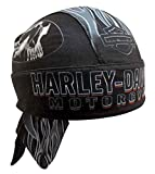 Harley-Davidson Men's Engulfed Flaming Skull Head Wrap, Moisture Wicking HW15290