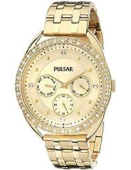 Pulsar Womens PP6178 Analog Display Japanese Quartz Gold Watch